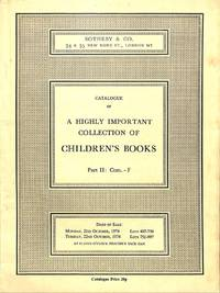 Sale 21-22 October 1974 : a Highly Important Collection of Children's  Books. Part II : Com.-F by SOTHEBY'S - LONDON - from Frits Knuf Antiquarian Books and Biblio.com