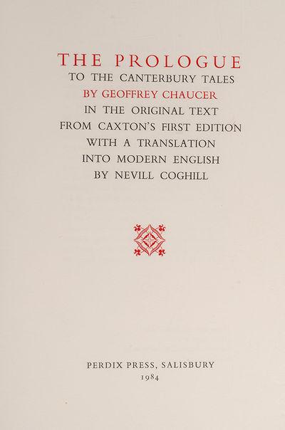 Salisbury: Perdix Press, 1984. Superb Photo-Litho Facsimile of the Original 1476 Edition . PERDIX PR...