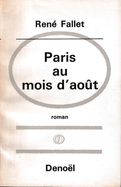 Paris: Denoël, 1964. Paperback. Very good. 237 pp. Light creases and tanning to the spine, light we...