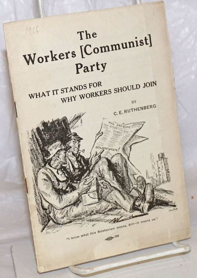 Chicago: Workers (Communist) Party, 1925. Pamphlet. 14p., wraps heavily creased, clear piece of tape...