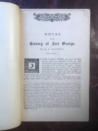 image of Notes On The History of Fort George  Original 1871 Edition