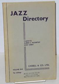 image of The directory; of recorded jazz and swing music (including gospel and blues records); volume five (J - Kirk)