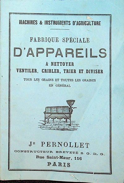 Paris: Jh Pernollet, 1876. First Edition. Wraps. Good. First Edition. 32 pages (last two blank) plus...