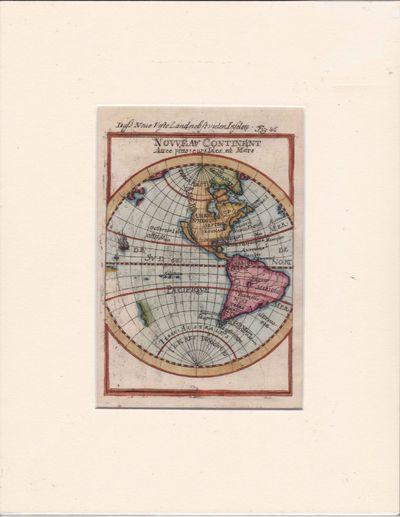 Nouveau Continent Avec Plusiers Isles et Mers