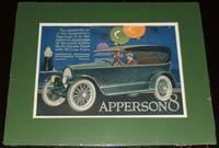 image of 1920 Full Page Color Automotive Ad for the Apperson 8, Matted Ready to  Frame