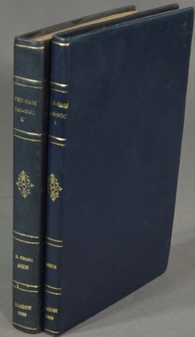 : Quoc Hoa, 1960. First edition, 2 volumes, 8vo, pp. , -236, ; -444, ; 3 full-page maps, 40 plates (...