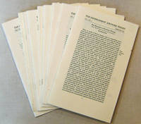 The Impercipient Lecture Series #1-5, and 7-10 (Nine issues)