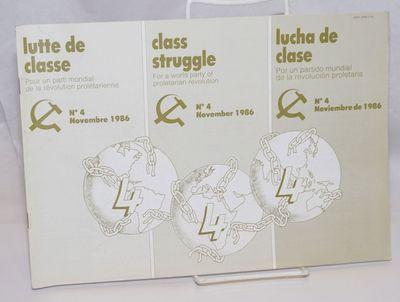 Paris: Lutte Ouvriere, 1986. Magazine. 47p., stapled wraps, 12x8.5 inches, three vertical columns of...
