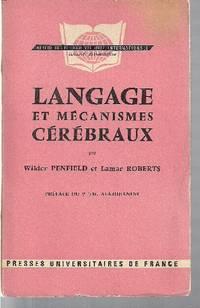 Langage et mécanismes cérébraux by  Lamar  Wilder  /  ROBERTS - Paperback - 1963 - from Librairie la bonne occasion and Biblio.com