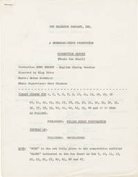 image of Ruby Gentry (Post-production Music Cue Sheet script for the 1952 film)
