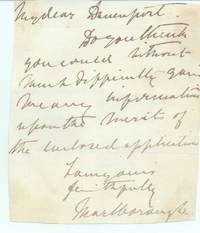 image of Autograph Letter Signed to 'My dear Davenport', (George Spencer, 1766-1840, from 1817 5th Duke of Marlborough, Bibliophile at White Knights, Reading)