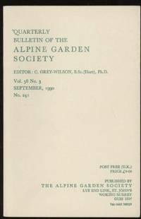 image of Quarterly Bulletin of the Alpine Garden Society: Vol. 58  No. 3,  September1990, No. 241