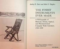The Finest Instruments Ever Made : A Bibliography of Medical, Dental, Optical, and Pharmaceutical...