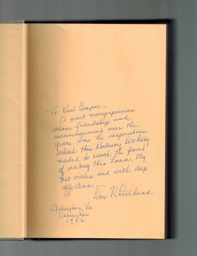 New York: Random House, 1956. SIGNED AND INSCRIBED BY AUTHOR on front end page -