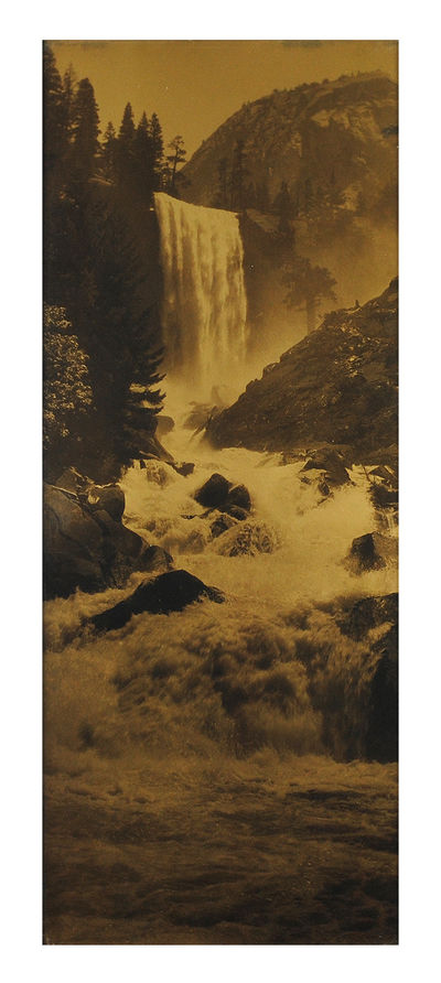 Pillsbury's Pictures, Inc., . Orotone print, 6.5 x 16.5 inches, in the original gold-toned frame, ov...