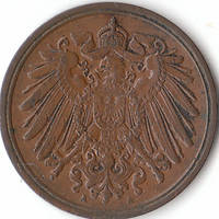 A Very Fine 1899 German One Pfennig , Nice Antique Coin