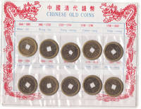 Lot of 10 Old Chinese Coins Modern Reproductions of Coins Used 1644 to  1911 in Original Packaging
