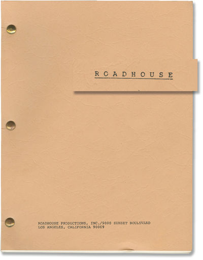 Los Angeles: Roadhouse Productions, Inc, 1983. First Draft script for the 1984 film, here under the ...