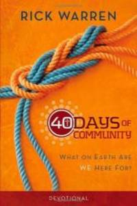 image of 40 Days of Community Devotional: What on Earth Are We Here For?