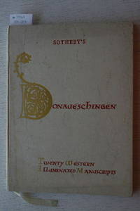 Sale 21 June 1982 : Twenty Western Illuminated Manuscripts from the Fifth  to the Fifteenth Century from the Library at Donaueschingen the Property  of His Serene Highness the Prince Fürstenberg.