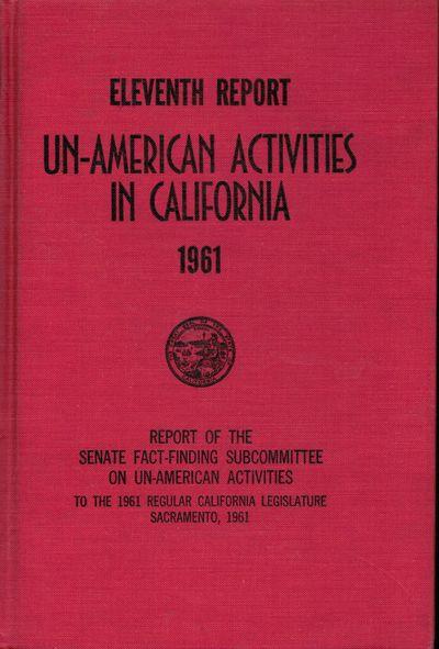 Sacramento: Senate. State of California, 1961. First edition. Hardcover. Index. Owner inscription. O...