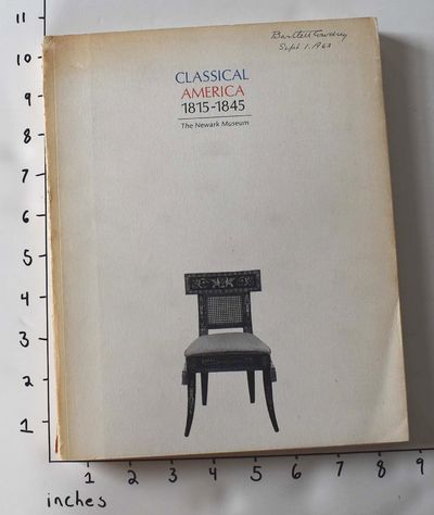 Newark, NJ: The Newark Museum, 1963. Softcover. VG- (Spine is lightly tanned and creased, one copy h...