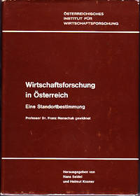 Osterreichisches Institut Fur Wirtschaftsforschung.  Wirtschaftsforschung in Osterreich, Eine...