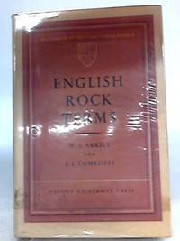 English Rock Terms, Chiefly as Used By Miners and Quarrymen