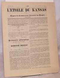 L'etoile du Kansas et de L'Iowa. Organe du Commuisme liberateur des Peuples et de l'Individu. 1er Juin, 1880
