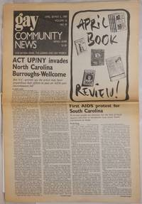 image of GCN: Gay Community News; the weekly for lesbians and gay males; vol. 16, #40, April 30 - May 6, 1989; ACT UP/NY invades NC