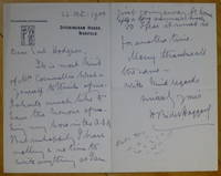 """image of Autograph Letter Signed, to """"Dear Earl Hodgson"""""""