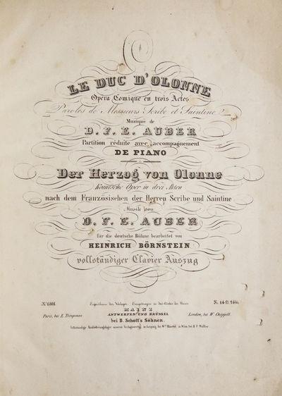 Mainz Antwerpen und Brüssel: B. Schott's Söhnen , 1842. Folio. Original publisher's printed wrappe...
