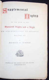 Supplemental Nights to The Book of the Thousand Nights and a Night -- vol. 3