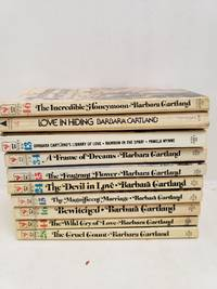 Lot of 10 Barbara Cartland Books Frame of Dreams, Devil in Love, Cruel Count