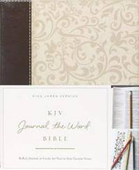 KJV, Journal the Word Bible, Leathersoft, Brown/Cream, Red Letter Edition: Reflect, Journal, or...