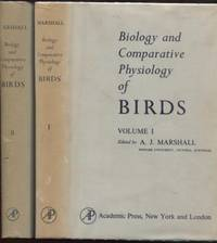 BIOLOGY AND THE COMPARATIVE PHYSIOLOGY OF BIRDS - Volume (1) and Volume (2) by  A. J Marshall - Hardcover - 1960 - from E Ridge fine Books and Biblio.co.uk