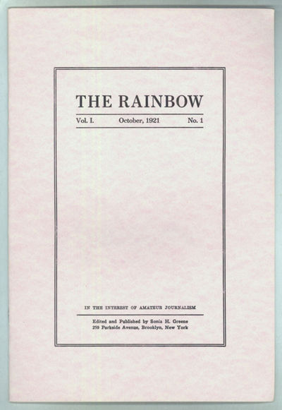 [West Warwick, Rhode Island: Necronomicon Press, 1977. Octavo, printed wrappers. Facsimile of the Oc...