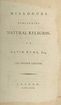 Dialogues Concerning Natural Religion . . . The Second Edition