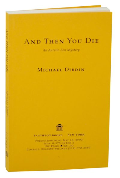 New York: Pantheon Books, 2002. First edition. Softcover. Uncorrected proof. An Aurelio Zen mystery....