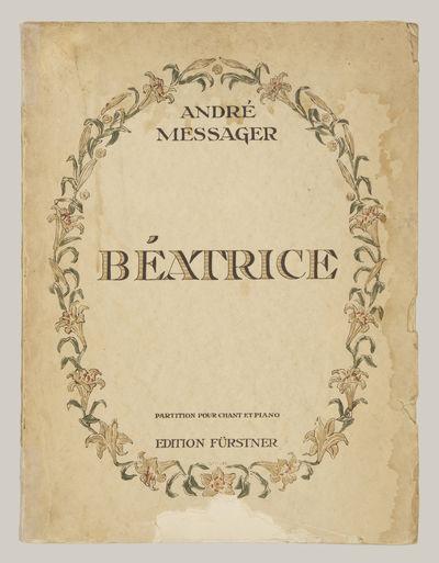 Paris: Adolphe Fürstner , 1914. Folio. Original publisher's decorative ivory wrappers. 1f. (half ti...