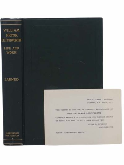 Cambridge: Houghton Mifflin Company / The Riverside Press, 1912. First Edition. Hard Cover. Near Fin...