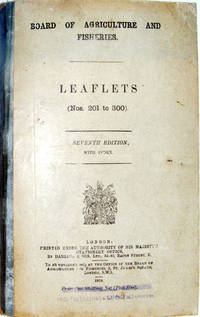 Board Of Agriculture And Fisheries. Leaflets (Nos. 201 to 300) 1919