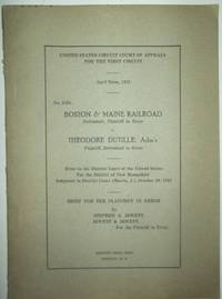 image of United States Circuit Court of Appeals  for the First Circuit April Term 1923. No. 1598. Proceedings of a trial between the Boston and Maine Railroad and the estate of Thomas Richardson, formerly of Lebanon, New Hampshire