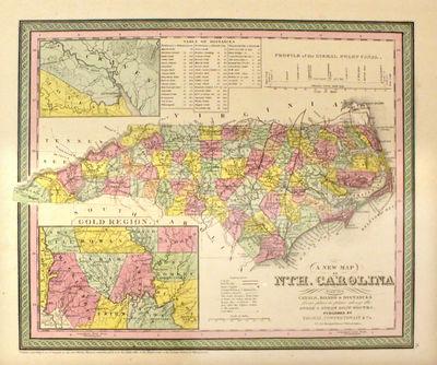 Philadelphia: Thomas, Cowperthwait & Co, 1852. unbound. very good. Map. Engraving with original hand...