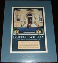 image of Original 1920 Full Page Color Advertisement for Disteel Wheels, Matted  Ready to Frame
