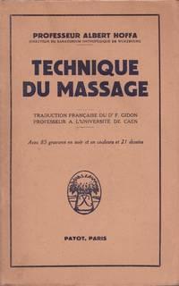 Technique du massage - 1er tirage