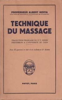 Technique du massage -1er tirage