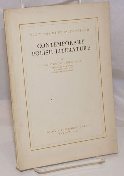 Warsaw: Polonia Publishing House, 1955. 35p., wraps, 5.75 x 8 inches, wraps worn and soiled, tail of...