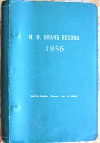 Official Brand Book of the State of North Dakota. 1956