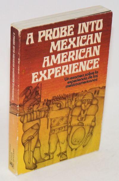 San Francisco: Center for the Study of Instruction/Harcourt Brace Jovanovich, 1973. vii, 311p., wrap...